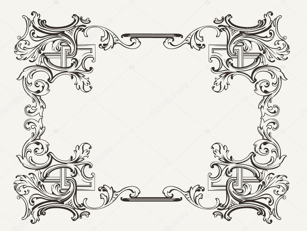 ursprünglichen Renaissance verzierten Rahmen — Stockvektor © aakbar ...