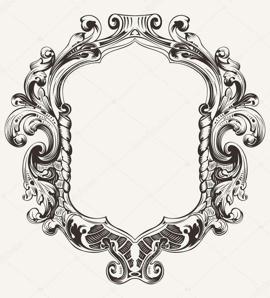 ornate hand mirror vector www