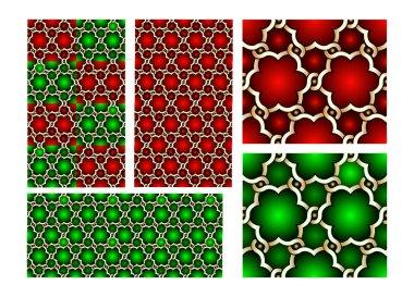 Asia seamless pattern