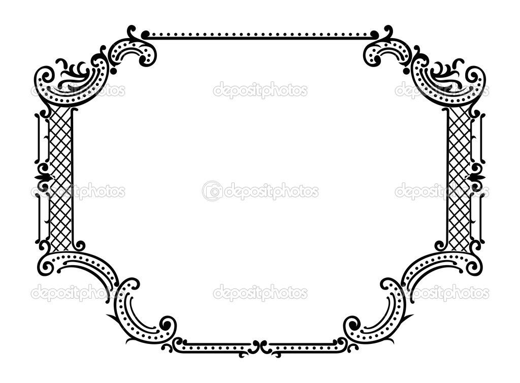 marco adornado de un color — Archivo Imágenes Vectoriales © aakbar ...