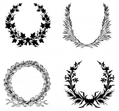 Set Of Four  Laurel Wreath.