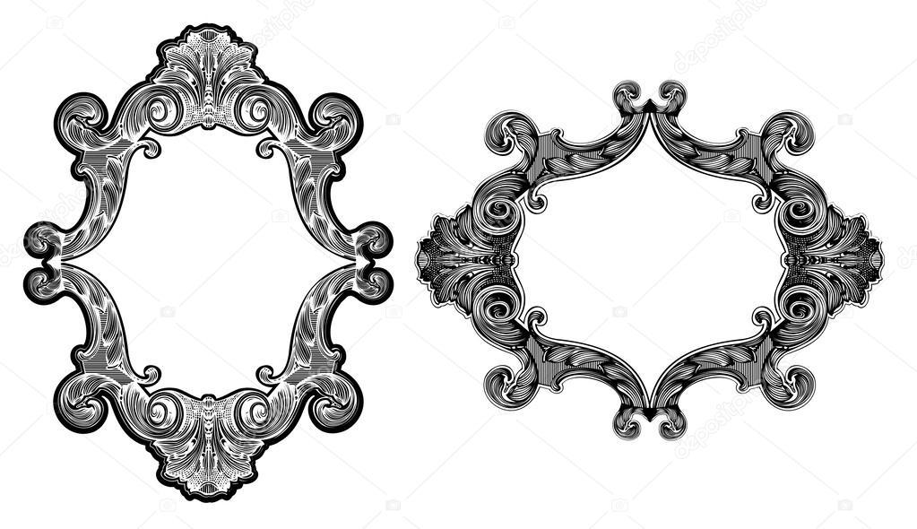 Marcos de arte barroco — Archivo Imágenes Vectoriales © aakbar #46324791