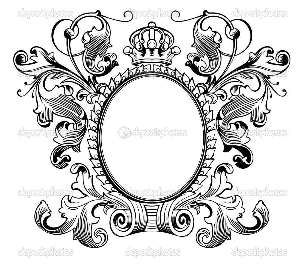 marco antiguo grabado — Archivo Imágenes Vectoriales © aakbar #46324919