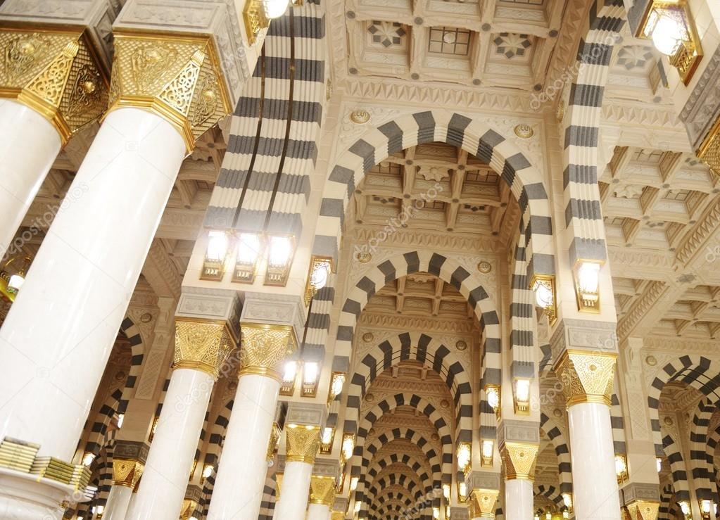 Mekka kaaba moschee innen s ulen dekoration stockfoto for Dekoration innen