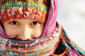 pěkná zimní portrét