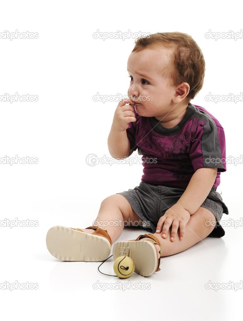 adorable cute baby, full body isolated — stock photo © zurijeta