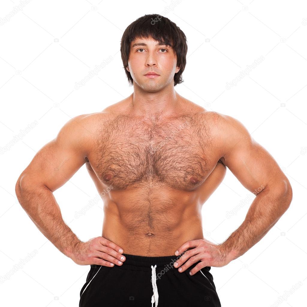 Muscular white guy