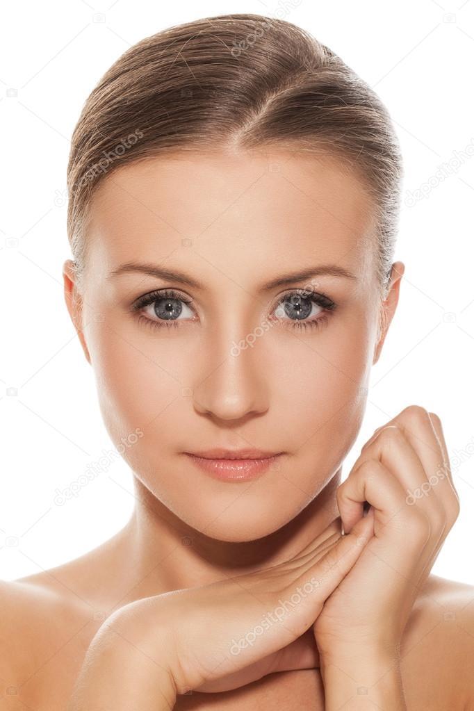 Beautiful natural caucasian woman