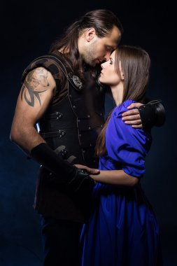 Knight and princess love each other