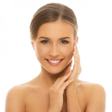 Cute woman with clean skin
