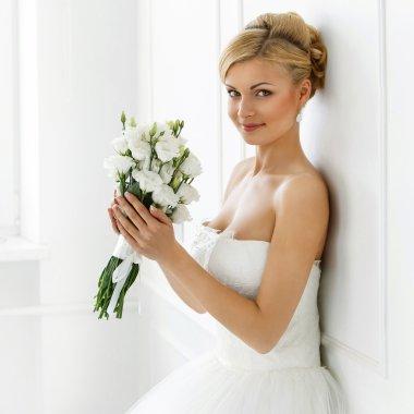 Attractive bride with smile