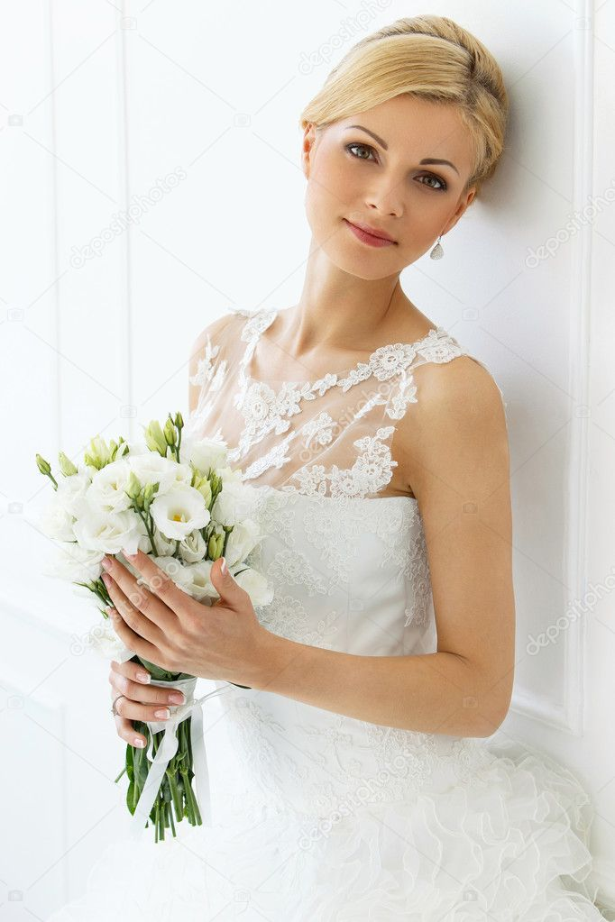 Attractive bride with smile