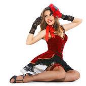 Fényképek burleszk táncos nyomában