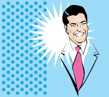 Nice Young Man - vintage Clipart Illustration