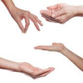 lidská dlaň gesta