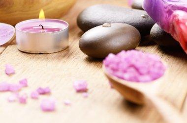 Lavender salt spa set