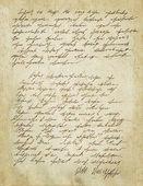 Fotografie starý dopis s vinobraní rukopisu. grunge