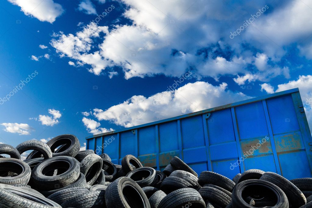 Recycling business, container and tires