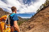 Fotografie turista v horách