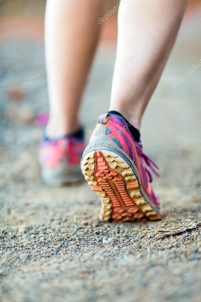 Walking or running legs, adventure and exercising