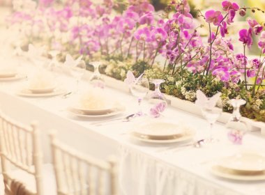 Wedding decoration table