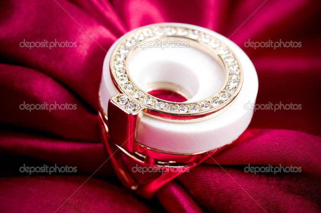 Beautiful jewelry on background — Stock Photo © Forewer #14680247
