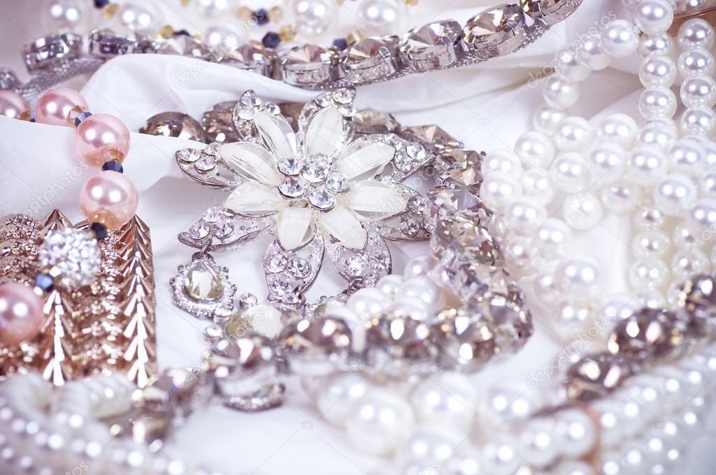 Beautiful jewelry on background — Stock Photo © Forewer #24505917