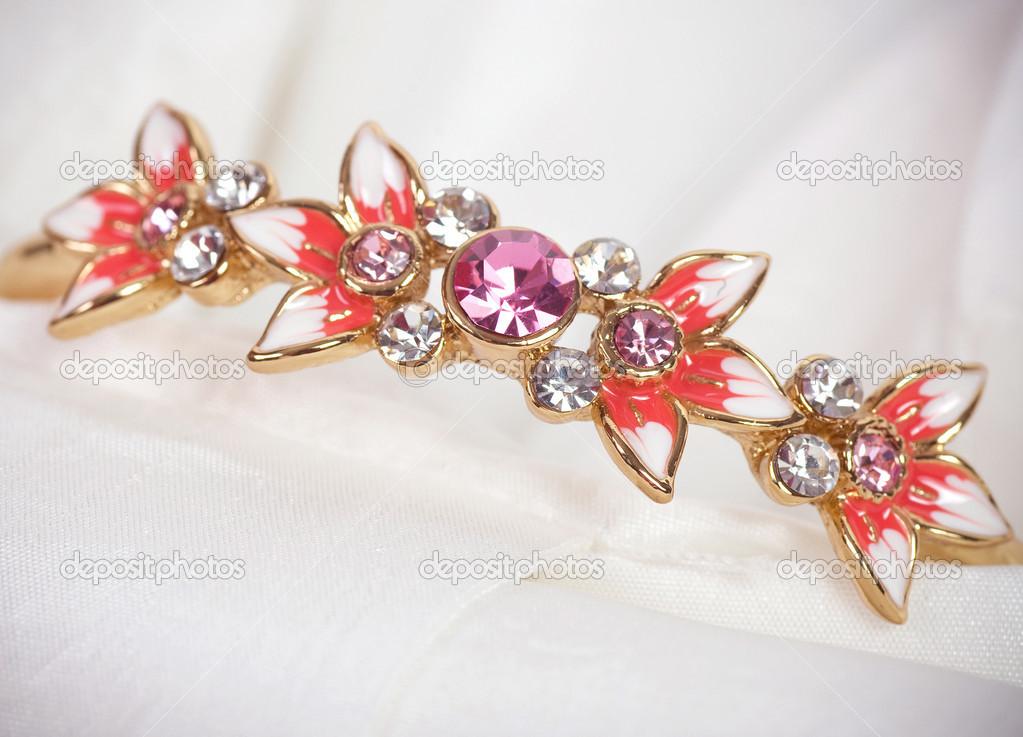 Beautiful jewelry on background — Stock Photo © Forewer #24505939