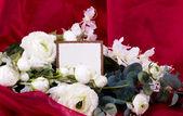 Fotografie Beautiful roses and card