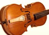 staré housle na bílé