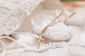 Photo Baby shoes and white dress   for Christening