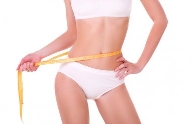Measure on beautiful woman body