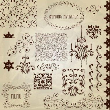 Vector Vintage Design Elements