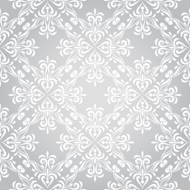 Vector seamless winter pattern with snowflakes, pattern in swatch menu stock vector