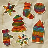 Photo Christmas Stickers Design