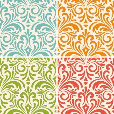 vector seamless floral vintage patterns