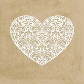 vektorové papír srdce