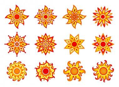 Stylized vector suns