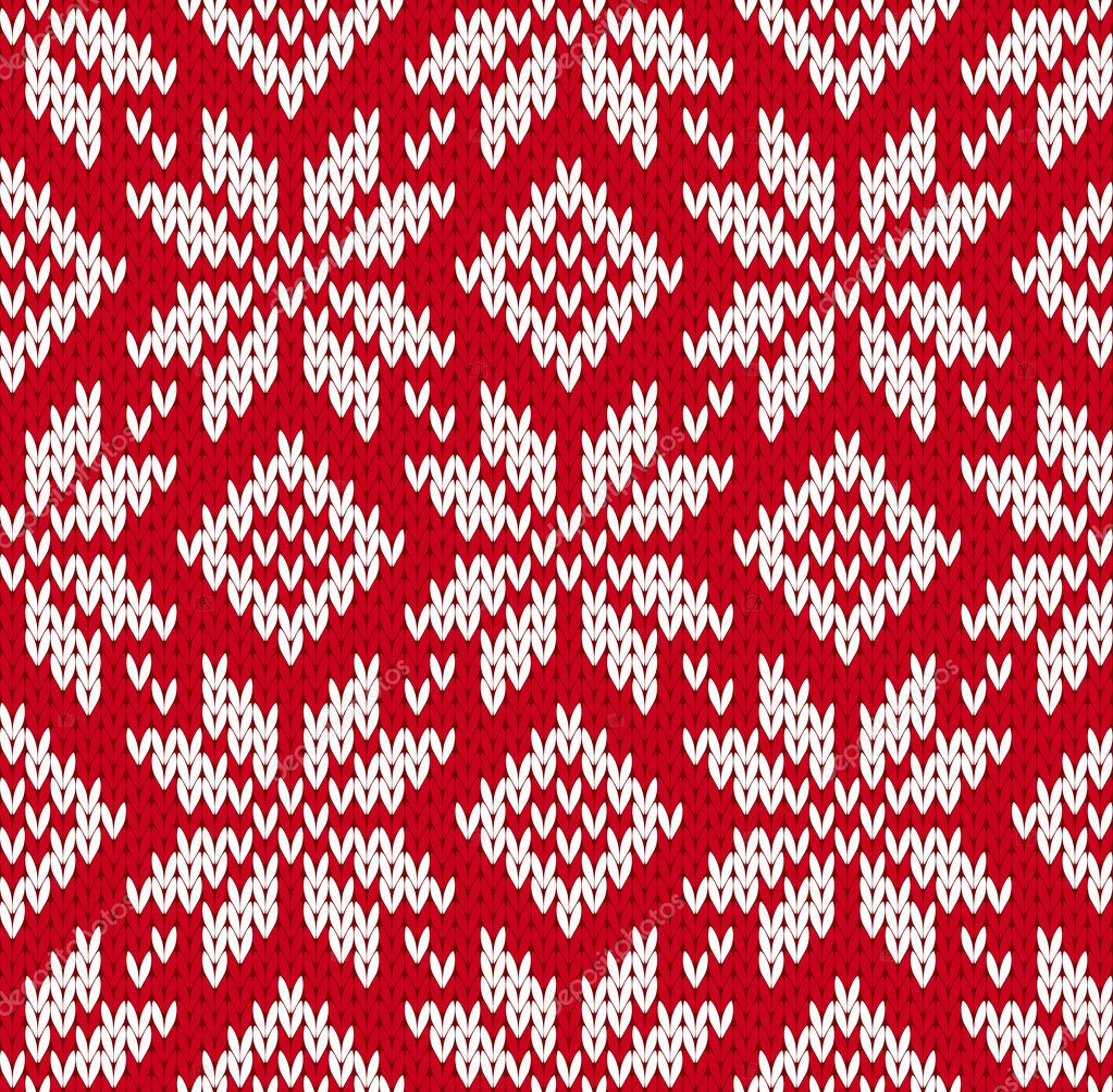 Nordic knitted seamless pattern