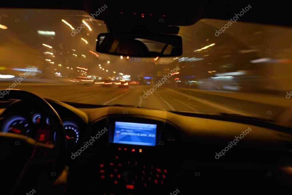 Car Driving Stock Photo
