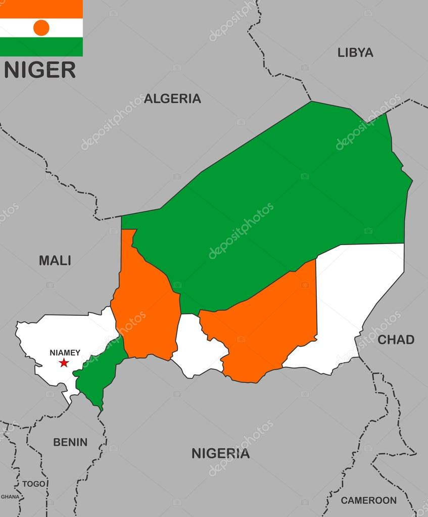 karta niger Niger map — Stock Photo © tony4urban #12721383 karta niger