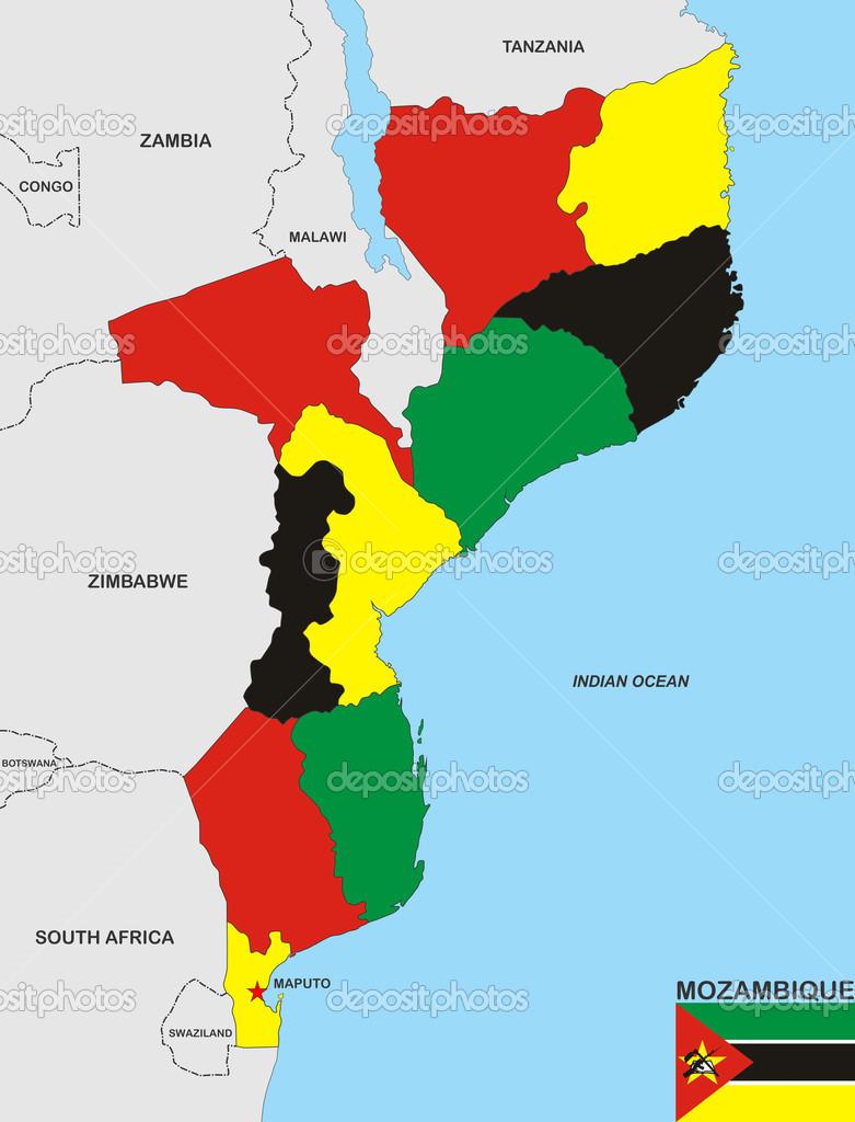 mapa de moçambique mapa de Moçambique — Fotografias de Stock © tony4urban #13817363 mapa de moçambique