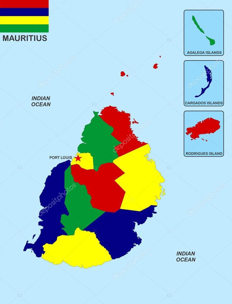 Mauritius Map Stock Photo Tonyurban - Mauritius map