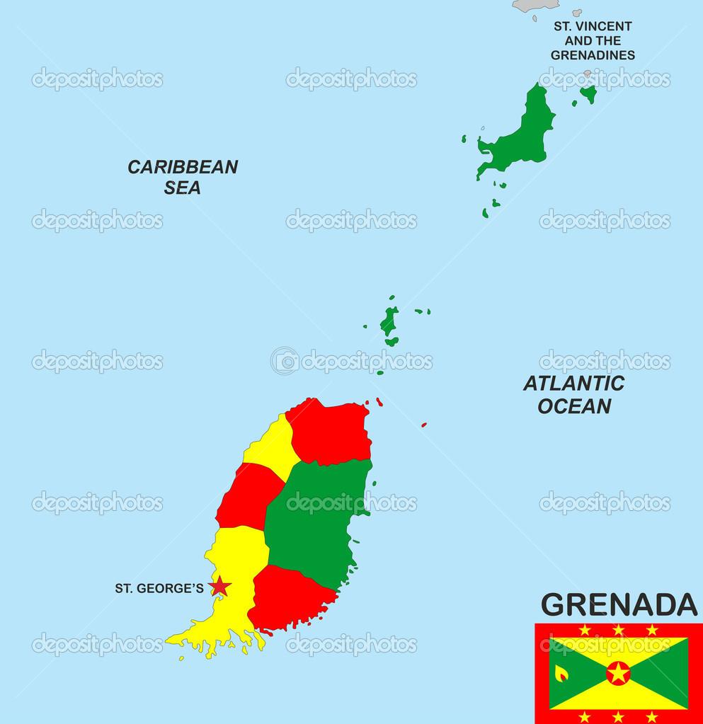 grenada map Stock Photo tony4urban 36977871