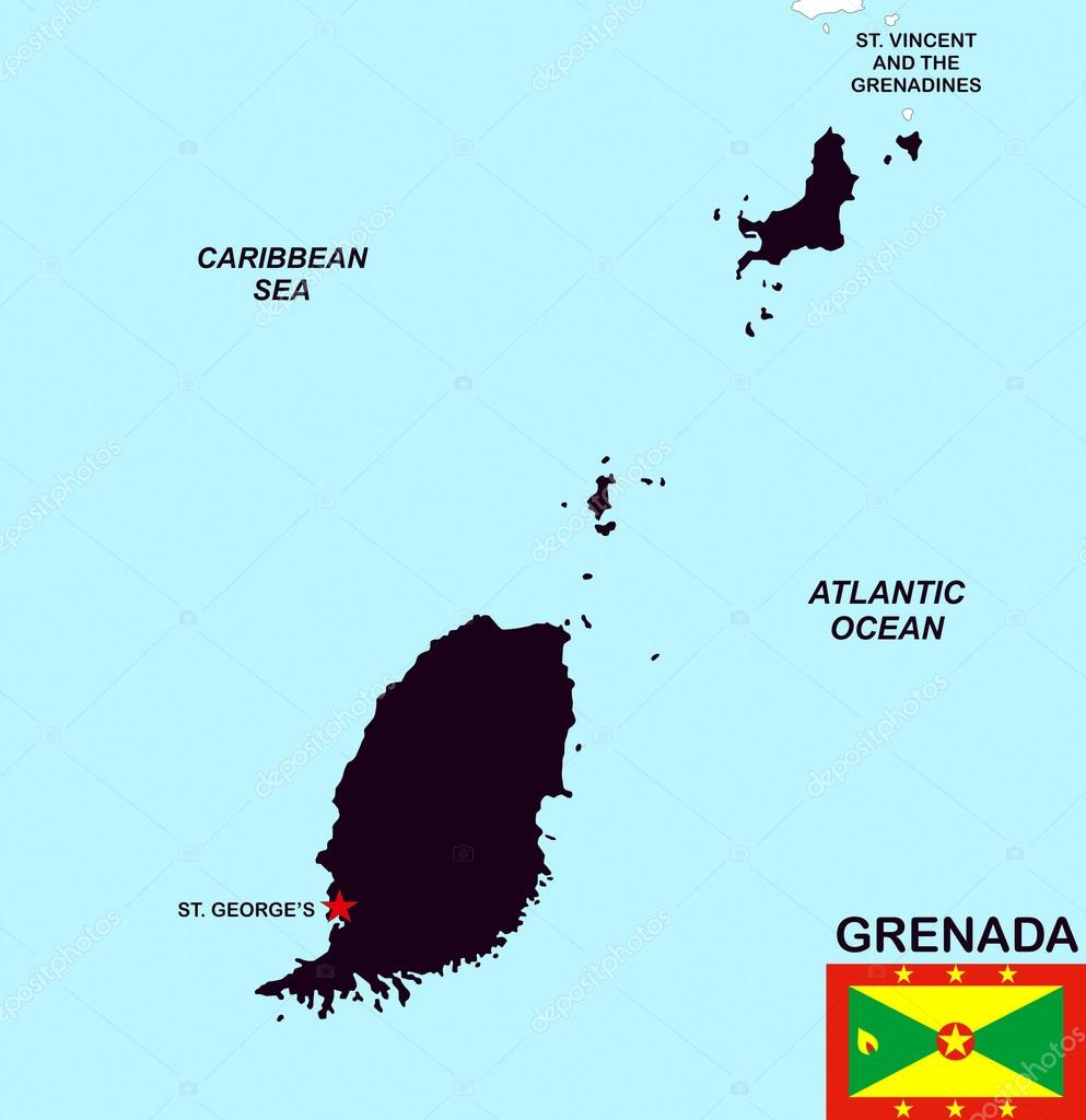 Grenada Map Stock Photo Tonyurban - Grenada map download