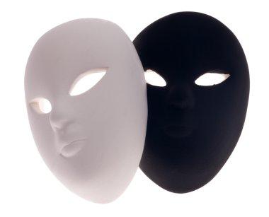 isolated black and white masks