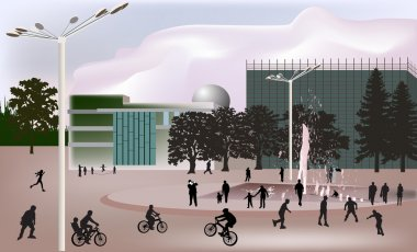 in city illustration