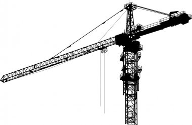 isolated black tower crane