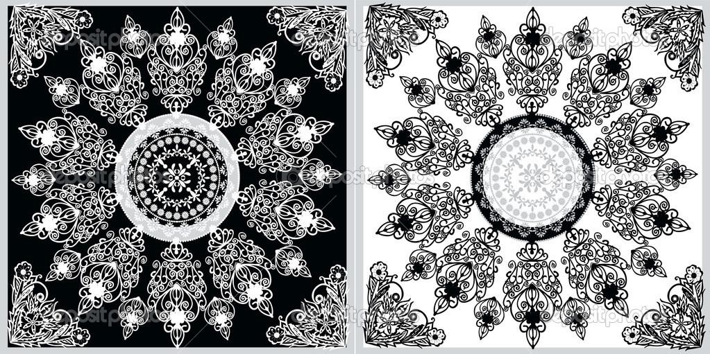 Sfondi neri con disegni bianchi