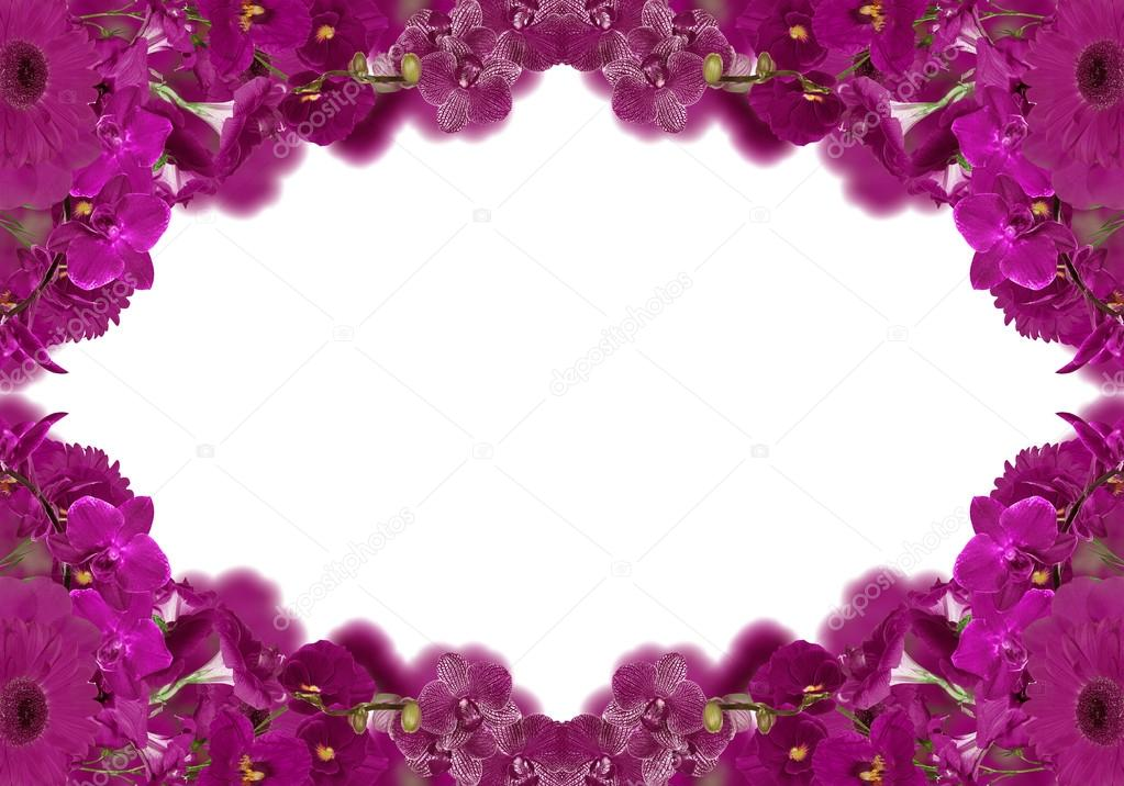 Dark Pink Color Flowers Frame Stock Photo Drs 34903893
